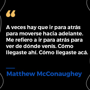 frase de Matthew McConaughey