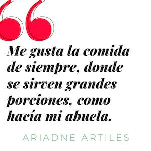 Frase de Ariadne Artiles